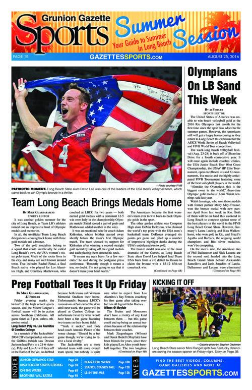 Gazette Sports | August 25, 2016