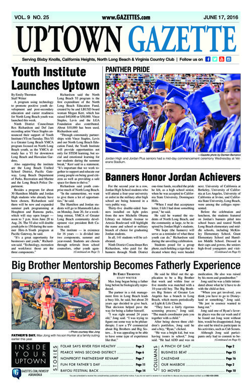 Uptown Gazette  |  June 17, 2016