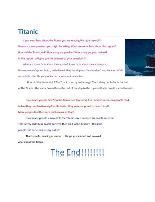 Titanic By: Genesis