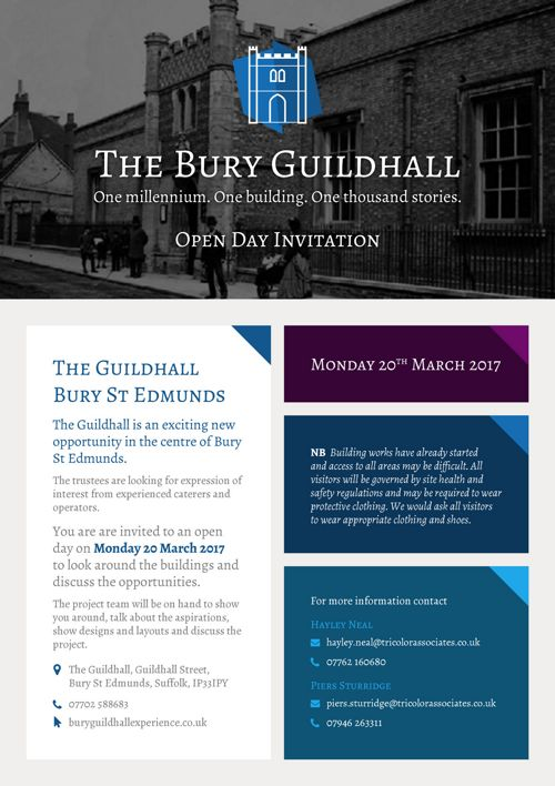 Bury Guildhall Open Day v2