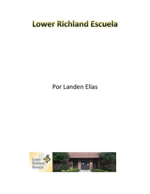 Lower Richland Escuela