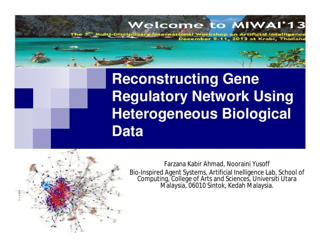 Slide Presentation MIWAI 2013