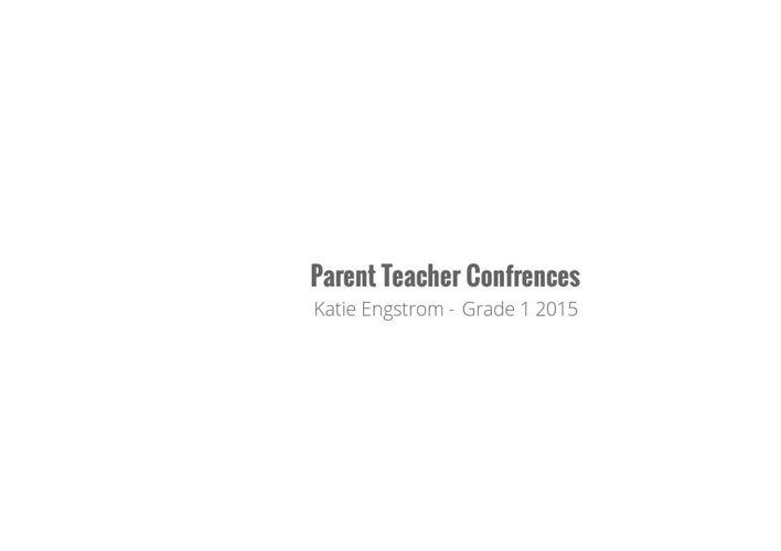 Communication Progress to Parents