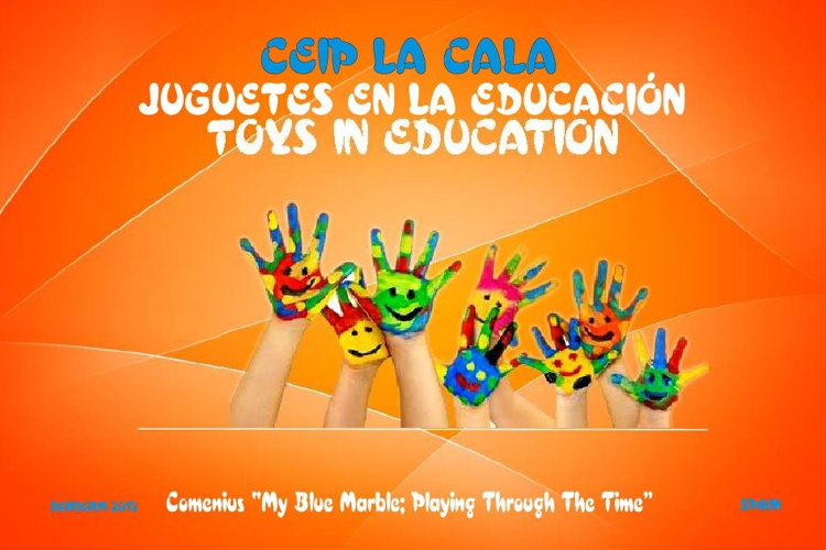JUGUETES EN LA EDUCACIÓN - TOYS IN EDUCATION