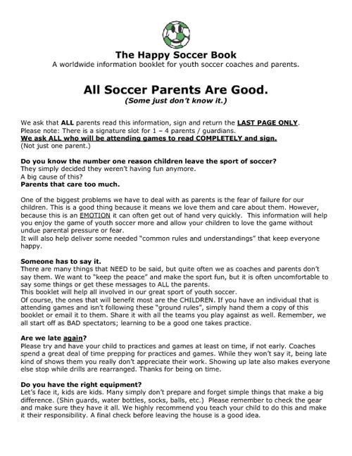 Happy Soccer Book