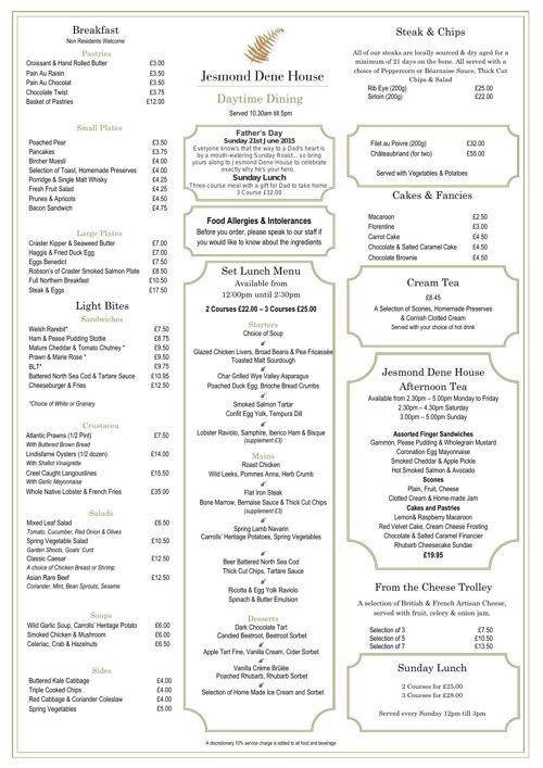 Daytime Dining Menu 15.5.15