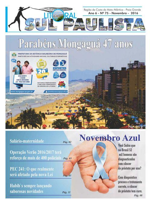 JORNAL LITORAL SUL PAULISTA N 75 NOVEMBRO 47 47 ANOS MONGAGUÁ