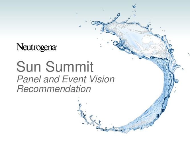Sun Summit Panel and Event Flow Recommendation 12.18.12