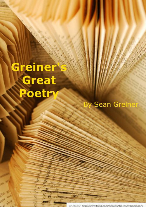 Sean Greiner Poetry Unit