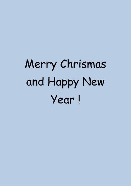 Merry Chirsmas !
