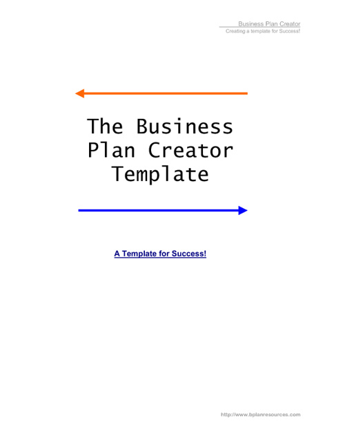 Business Plan Creator Template