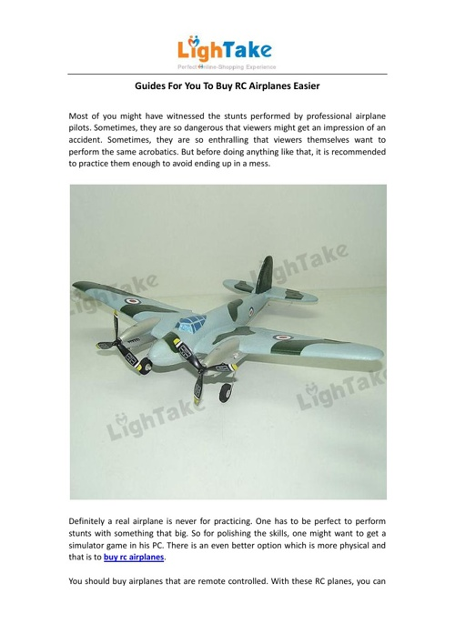 Guides For You To Buy RC Airplanes Easier