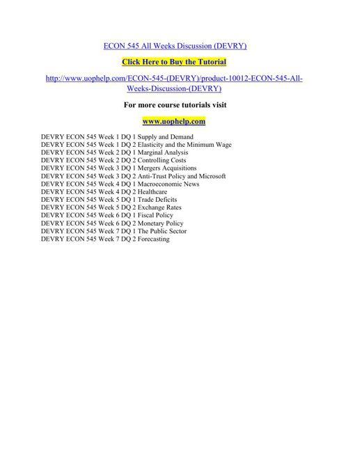 ECON 545 Squared Instruction Uophelp