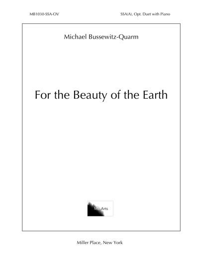 """For the Beauty of the Earth"" SSA in B-flat (Bussewitz-Quarm)"