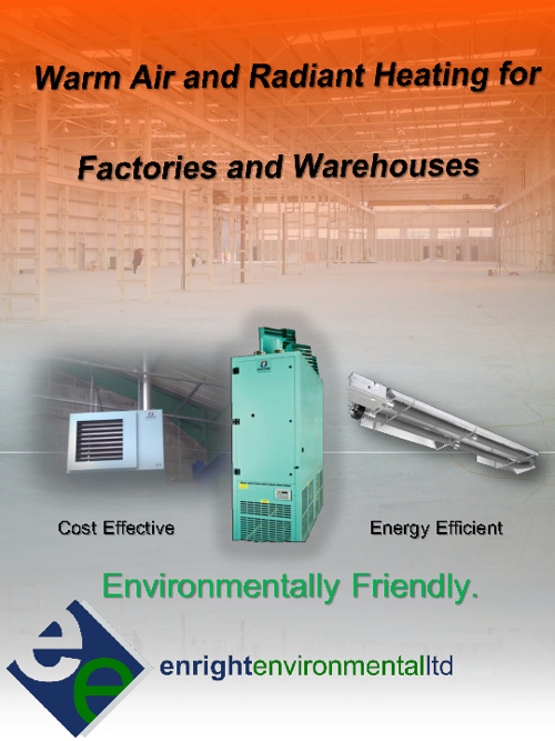 Warm Air & Radiant Heating for Factories and Warehouses