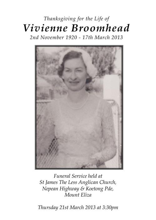 Vivienne Broomhead