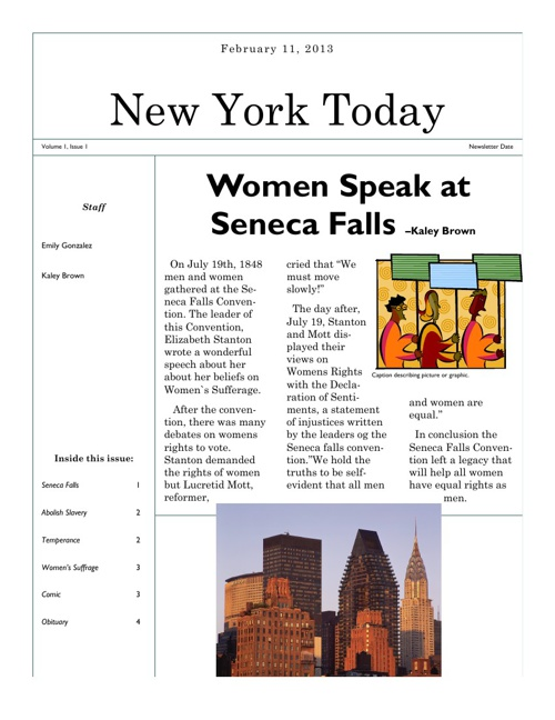 New York Today Reform Newspaper