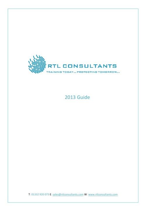 RTL Consultants 2013 Brochure