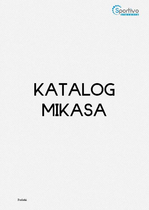 Katalog Mikasa