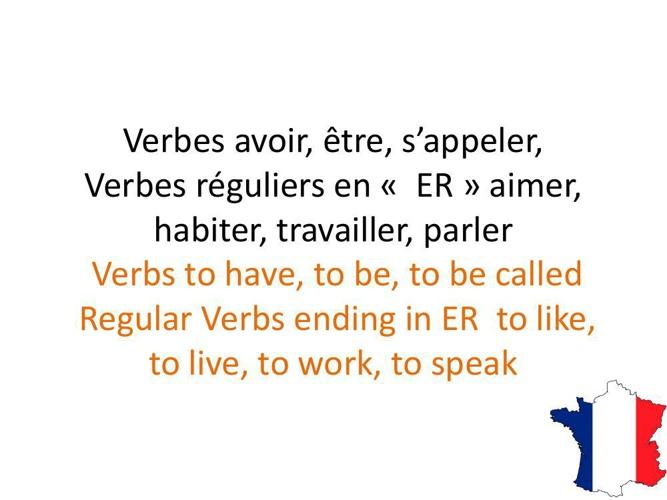 avoir-être-s'appeler-apprendre-parler (grammar)(S)