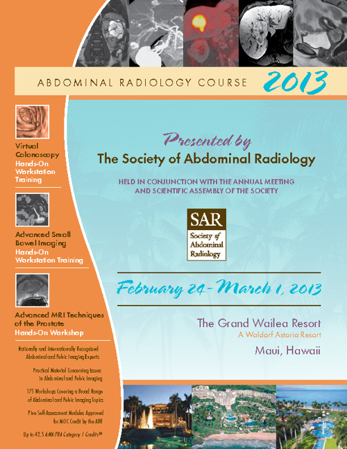 Abdominal Radiology Course 2013