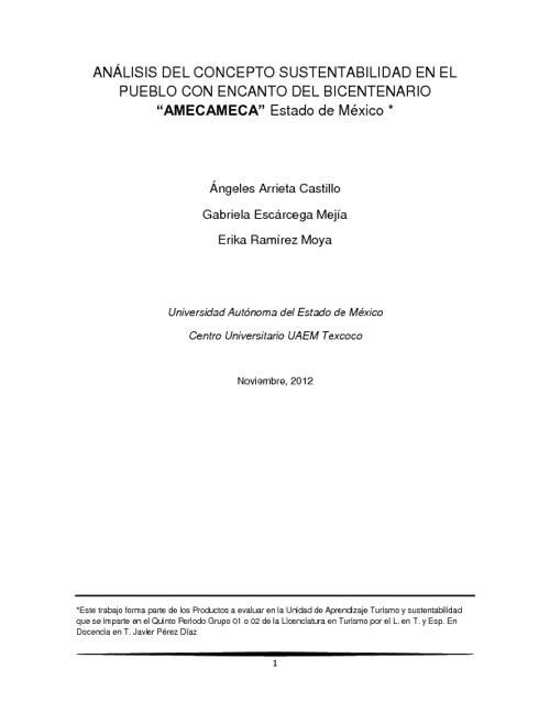 AMECAMECA PUEBLO CON ENCANTO DEL BICENTENARIO