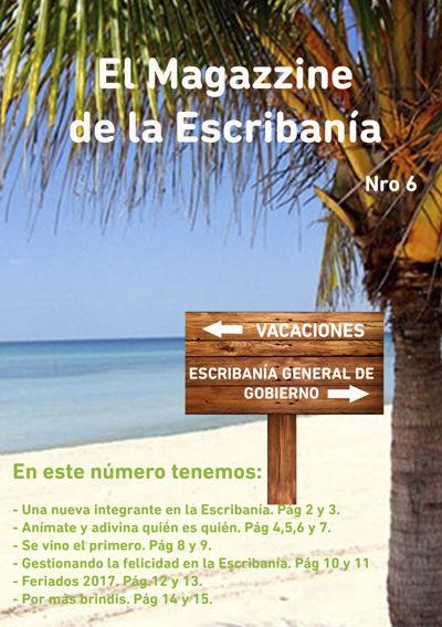 Revista el Magazzine de la Escribanía Nro 6.