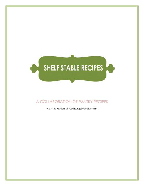 shelf stable recipe book
