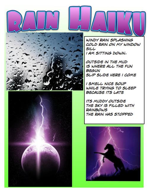 RAIN HAIKU POEMS