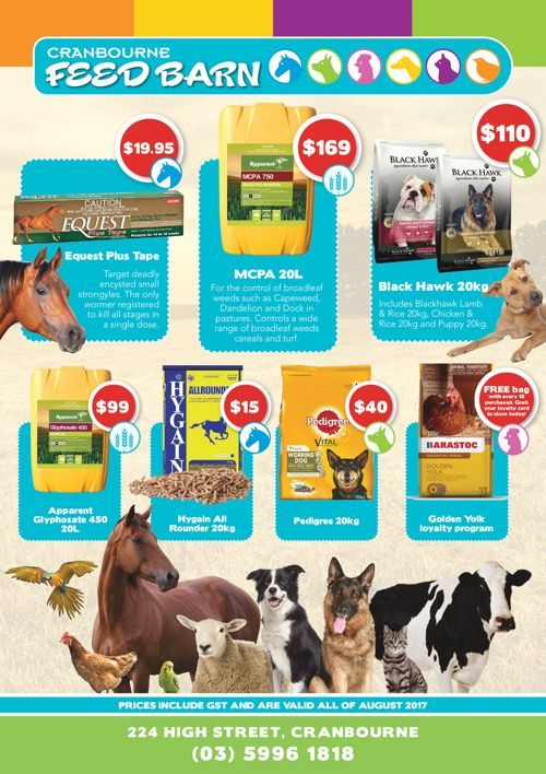 Feed Barn Mailer 2017 August