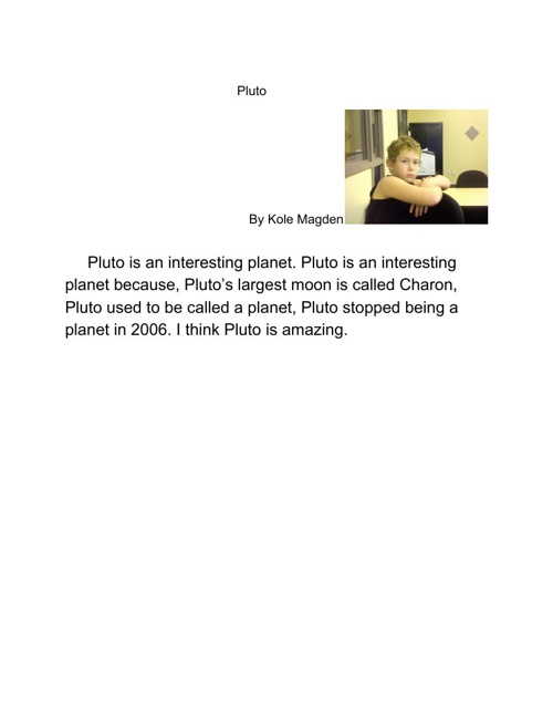 Pluto:)