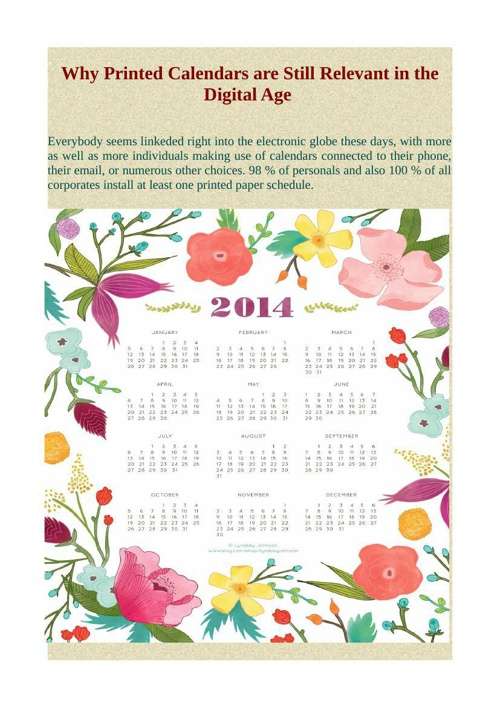 Why Printed Calendars are Still Relevant in the Digital Age