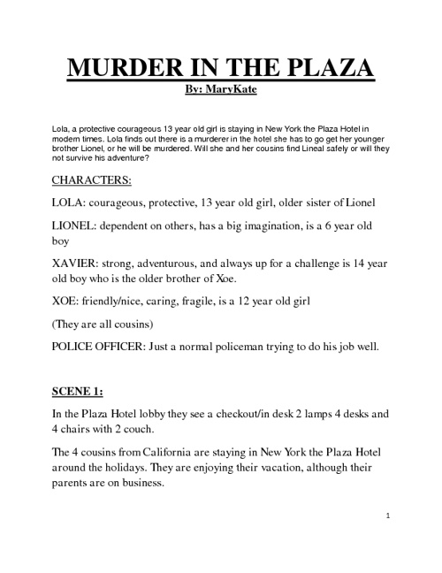 Murder in the Plaza