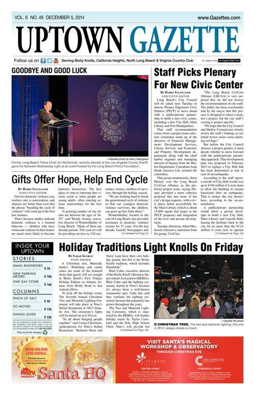Uptown Gazette     December 5, 2014