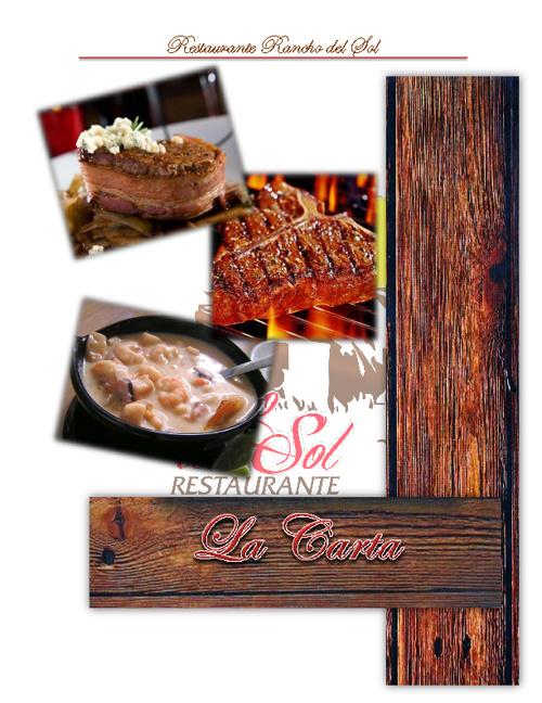 Carta Restaurante Rancho del Sol
