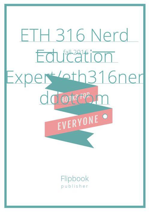 ETH 316 Nerd  Education Expert/eth316nerddotcom