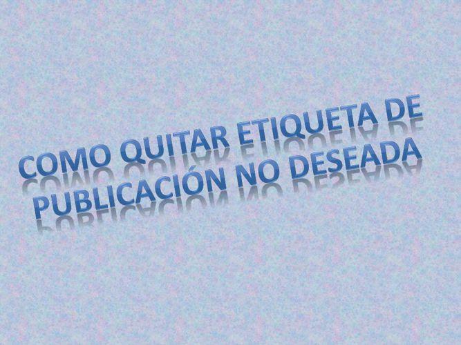 PUB.NO_DESEADA