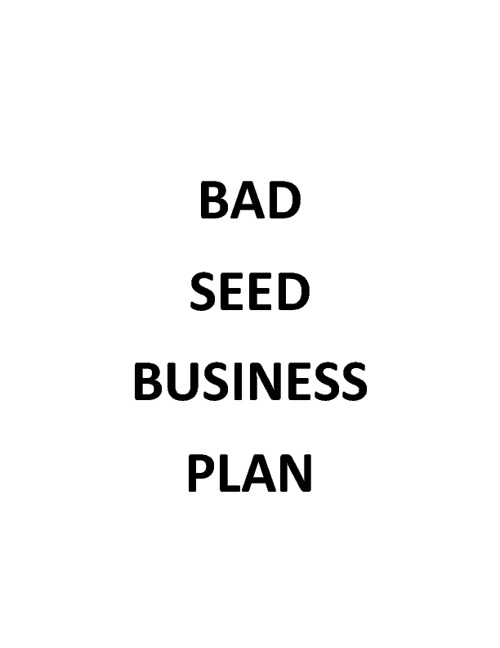 Bad Seed Business Plan