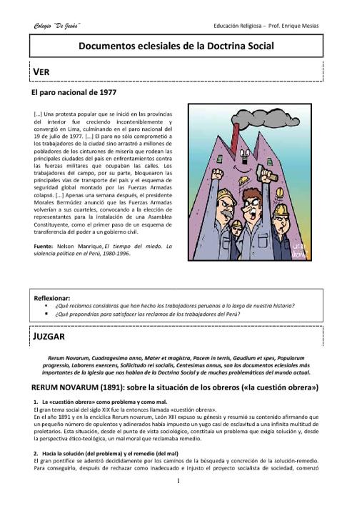 5to - 02 Documentos eclesiales de la Doctrina Social