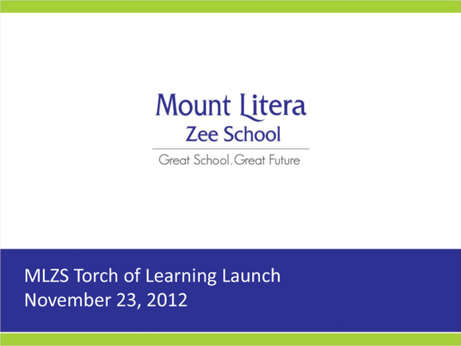 Torch of Learning - Launch