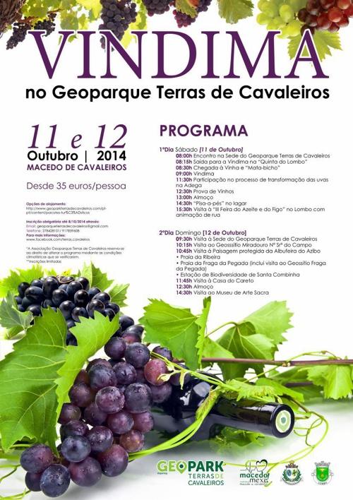 """Copy of Programa Turístico """"Vindima Comunitária no Geoparque Ter"""