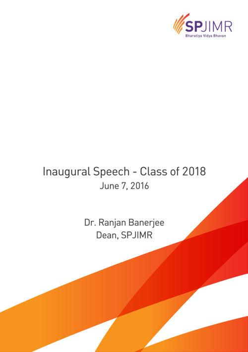 Dean inaugural speech 2016