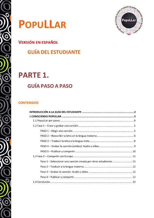 PopuLLar Guía del Estudiante ES