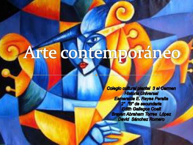 Arte contemporáneoFINAL arte