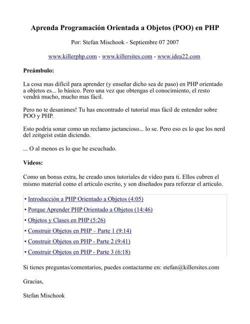 Programacion POO PHP