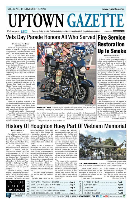 Uptown Gazette  |  November 8, 2013