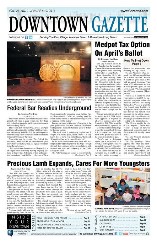 Downtown Gazette  |  January 10, 2014