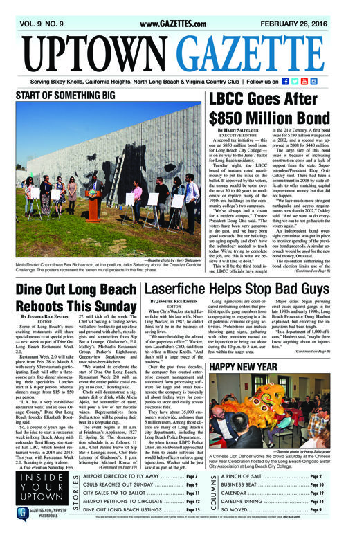 Uptown Gazette  |  February 26, 2016