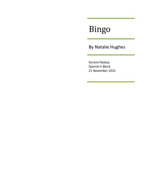 Spanish Oral- Natalie Hughes