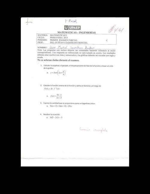 examen parcial 1 zamorano
